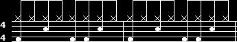 Second beat notation - Double Bass kick